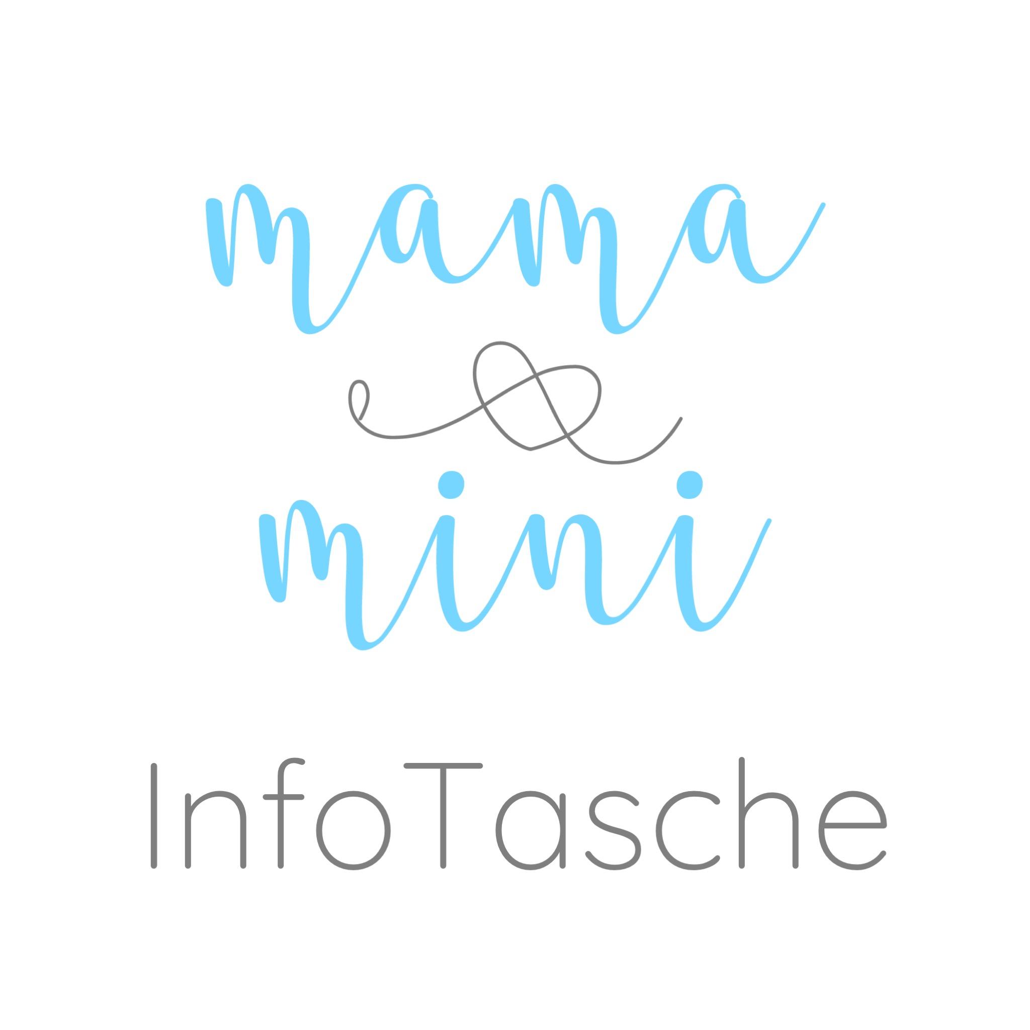 Mama und Mini Info Tasche - Logo